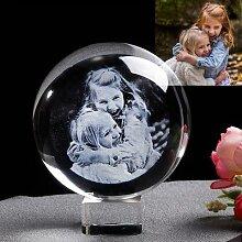 Boule de Photo en verre personnalisée, graveur