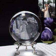 Boule de Photo en verre personnalisée, sphère de