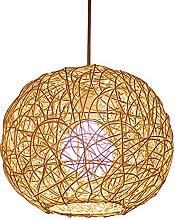 Boule De Rotin En Bambou Naturel Lampes Suspendues