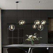 Boule de verre nordique lustre lumière moderne