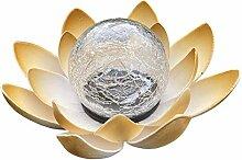 Boule de verre solaire en forme de fleur de lotus