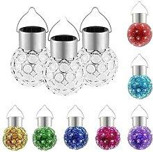 Boule de verre suspendue en cristal à couleur