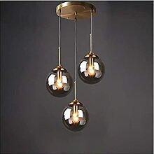 Boule de Verre Suspension Luminaire Lustre Vintage