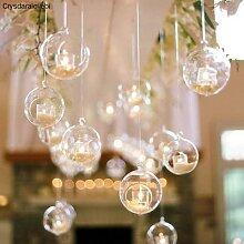 Boule de verre transparente en forme de Globe, 8