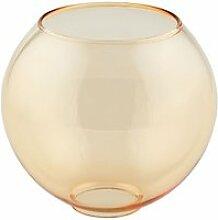 Boule en verre ambre nice (d15cm)