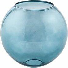 Boule en verre bleu lyon (d18cm)