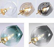 Boule en verre pour lustre, 5 couleurs. Après