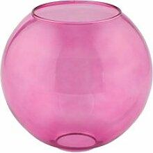 Boule en verre rose lyon (d18cm)