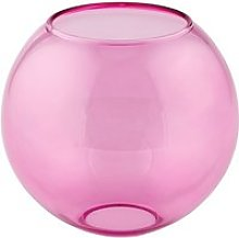 Boule en verre rose nice (d15cm)