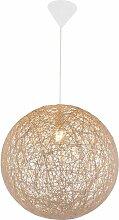 Boule Lampe à Suspension Salon Papier Tresse