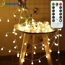 Boule LED guirlande lumineuse avec télécommande,