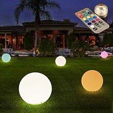 Boule lumineuse LED gonflable 40/60cm, lampe de