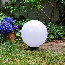 Boule lumineuse solaire LED Campinas en plastique