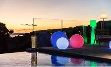 Boule ou cube lumineux sans fil LED multicolore