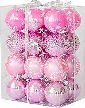 boule plastique 24pcs Boules De Noël, Boules