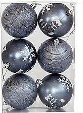 boule plastique Lot De 6 Boules D'arbre,
