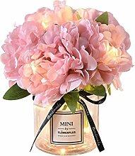 Bouquet Artificielle avec Vase Fleurs
