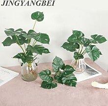 Bouquet de feuilles de tortue au toucher réel,