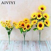 Bouquet de fleurs de tournesol artificielles en