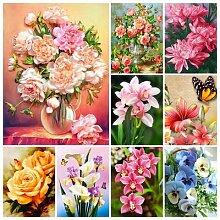 Bouquet de fleurs en diamant 5D à