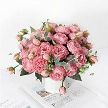 Bouquet de pivoines artificielles, fausses fleurs,