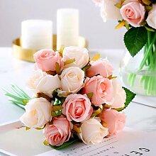 Bouquet de roses artificielles pour mariage, 1