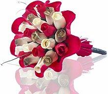 Bouquet de roses en bois - Émeri - Symbole