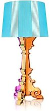 BOURGIE-Lampe à poser H68-78cm bleu azur Kartell
