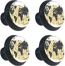 Boussole rétro carte du monde