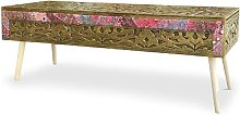 Bout de lit Jadida Bronze et Tissu - Bronze