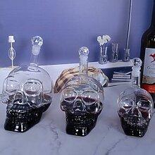Bouteille de tête de crâne en cristal créative,