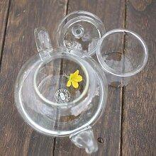 Bouteille résistante à la théière en verre,