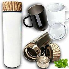 Bouteille Thermos + Tasse mug Isotherme avec