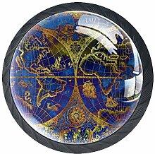 Bouton de Tiroir Carte du monde Bouton de Meuble