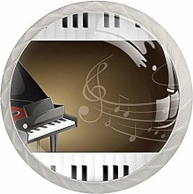 Bouton de tiroir piano à queue avec claviers et