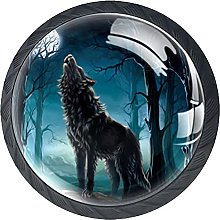 Boutons de commode noirs Timberwolves Armoires