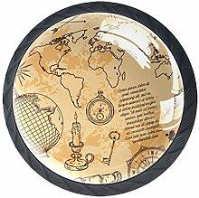 Boutons de Meuble Boussole de carte du monde