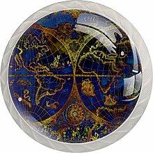Boutons de Meuble Carte du monde Poignée de