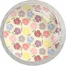 Boutons de tiroir colorés en forme de fleurs pour
