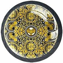 Boutons de tiroir Poignées d'armoire rondes