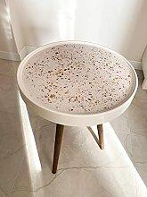 Bouts De Canapé Table basse céramique Terrazzo