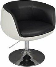 Bowl - fauteuil pivotant simili cuir bicolore
