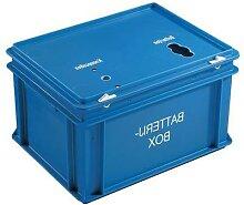 box pour batteries bleu h:23.5 cm largeur:30 cm