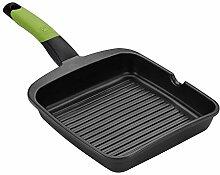 BRA PRIOR - Poêle grill lisse en aluminium fondu