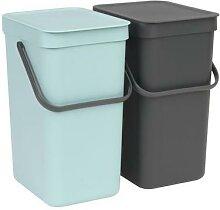 brabantia 1 poubelle encastrable sort&go 2x12l -