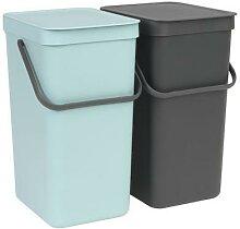 brabantia 1 poubelle encastrable sort&go 2x16l -