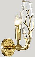 Bradoner Cristal De Cuivre Postmoderne LED Lampe