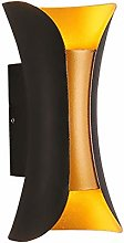 Bradoner Double Lampe De Mur Extérieur LED Black