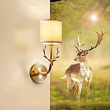 Bradoner Lampe Créative Américaine Tête De Cerf