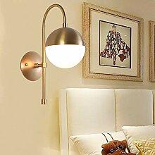 Bradoner LED moderne j simple boule verre blanc +